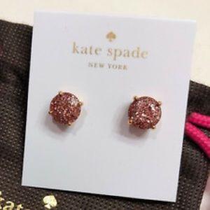 Kate spade gum drop pink earrings.